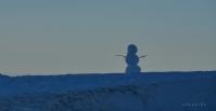 Bonecos de neve também povoam a Serra.